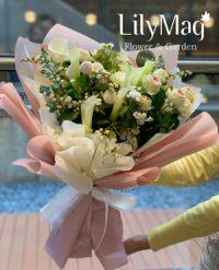 카라&젤라또장미 꽃다발